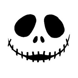 Jack Skellington Face | Free Stencil Gallery
