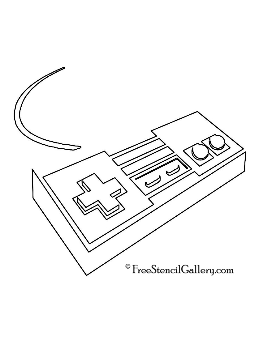 Atari Controller Coloring Pages