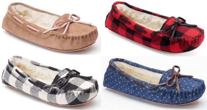 *HOT* $9.59 (Reg $24) Women's Moccasin Slippers + FREE Pickup