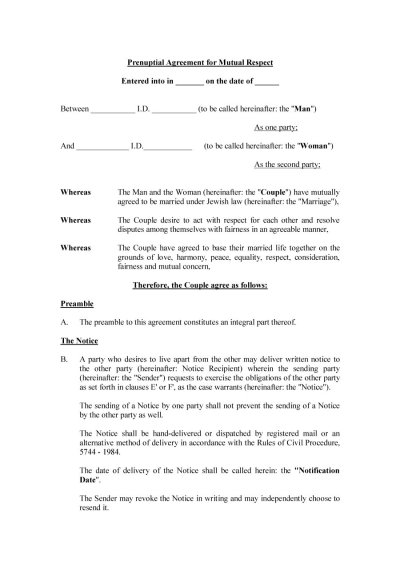 31 Free Prenuptial Agreement Samples & Forms - Free ...