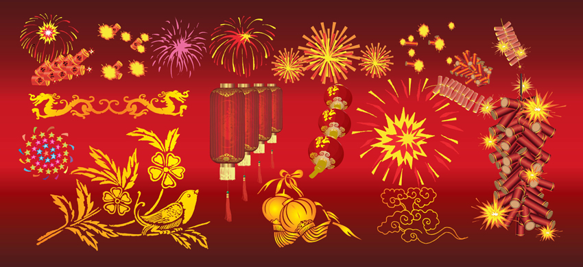 Chinese New Year Celebration Vector Art   Graphics   freevector com Chinese New Year Celebration