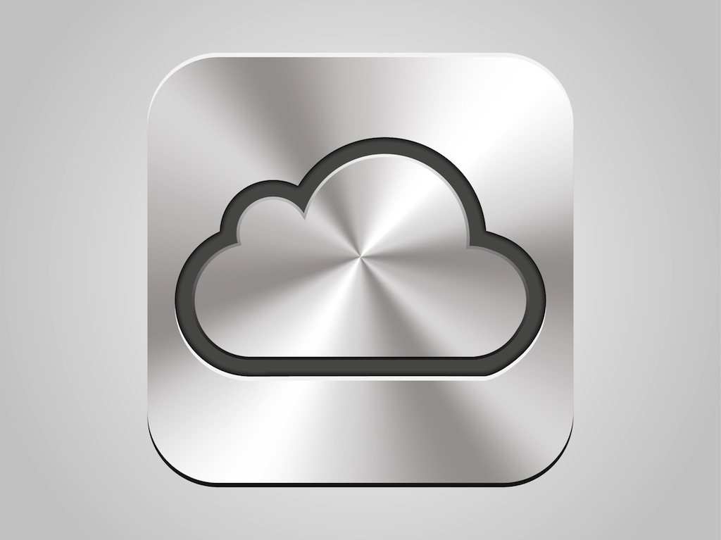 Apple I Cloud Icon Vector Art   Graphics   freevector com Apple iCloud Icon