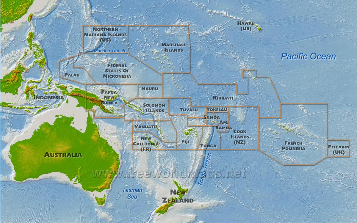 solomon islands physical map The world