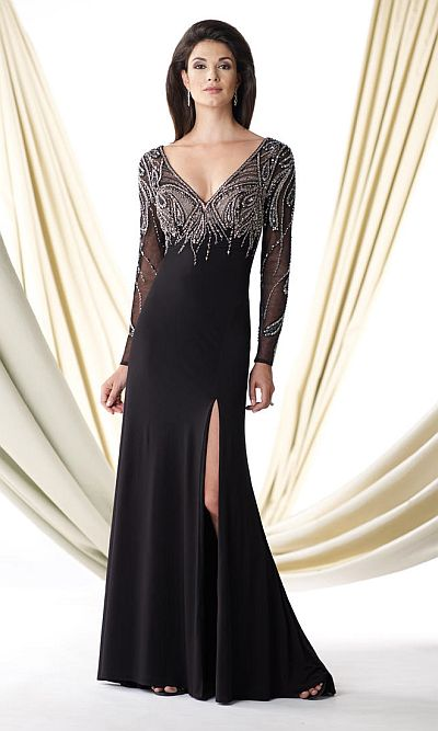 Ivonne D 114d44 Mother Of The Bride Illusion Dress French
