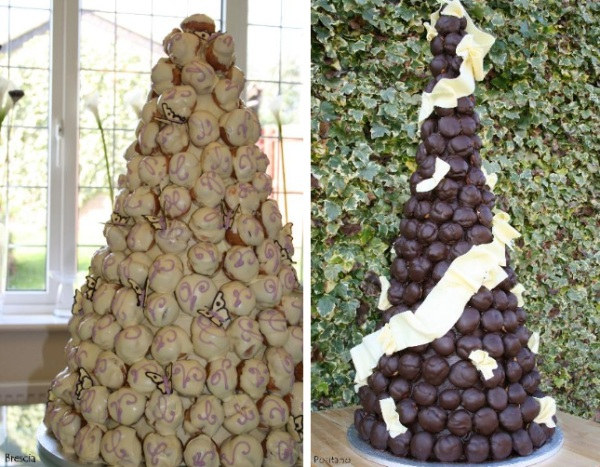 Wedding Croquembouche  the French wedding cake zucchero patisserie UK
