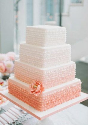60 Unique Wedding Cakes Designs ombre wedding cakes
