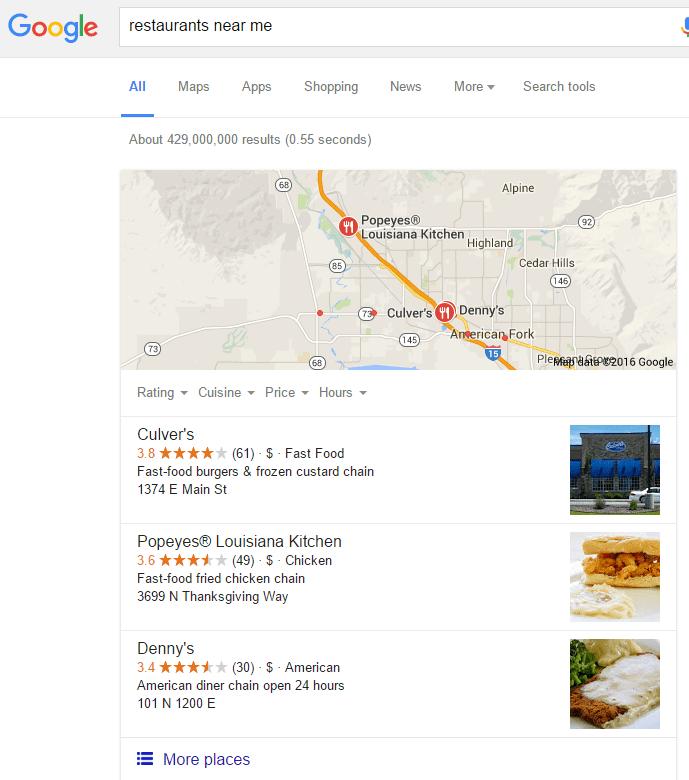 Local Eateries Near Me