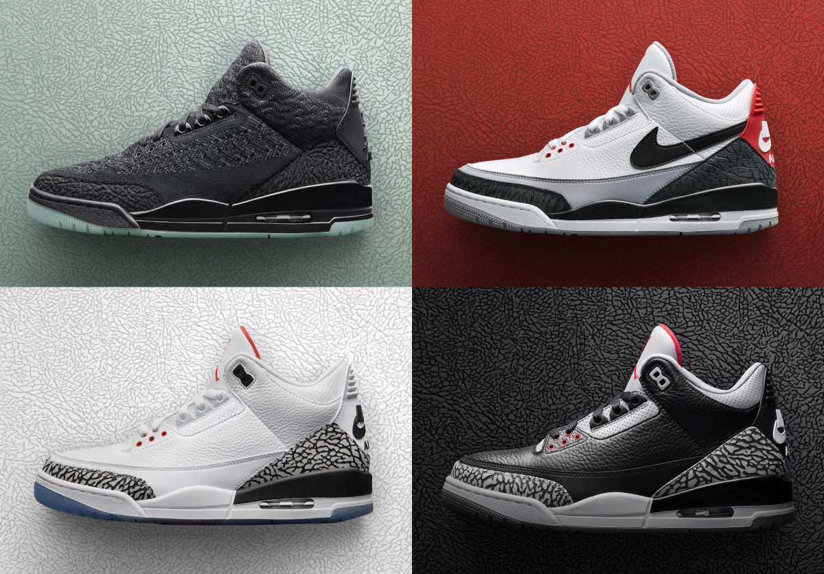 Jordan Brand Previews a Quartet of Air Jordan 3 Releases From Its     air jordan 3 spring 2018 preview 00