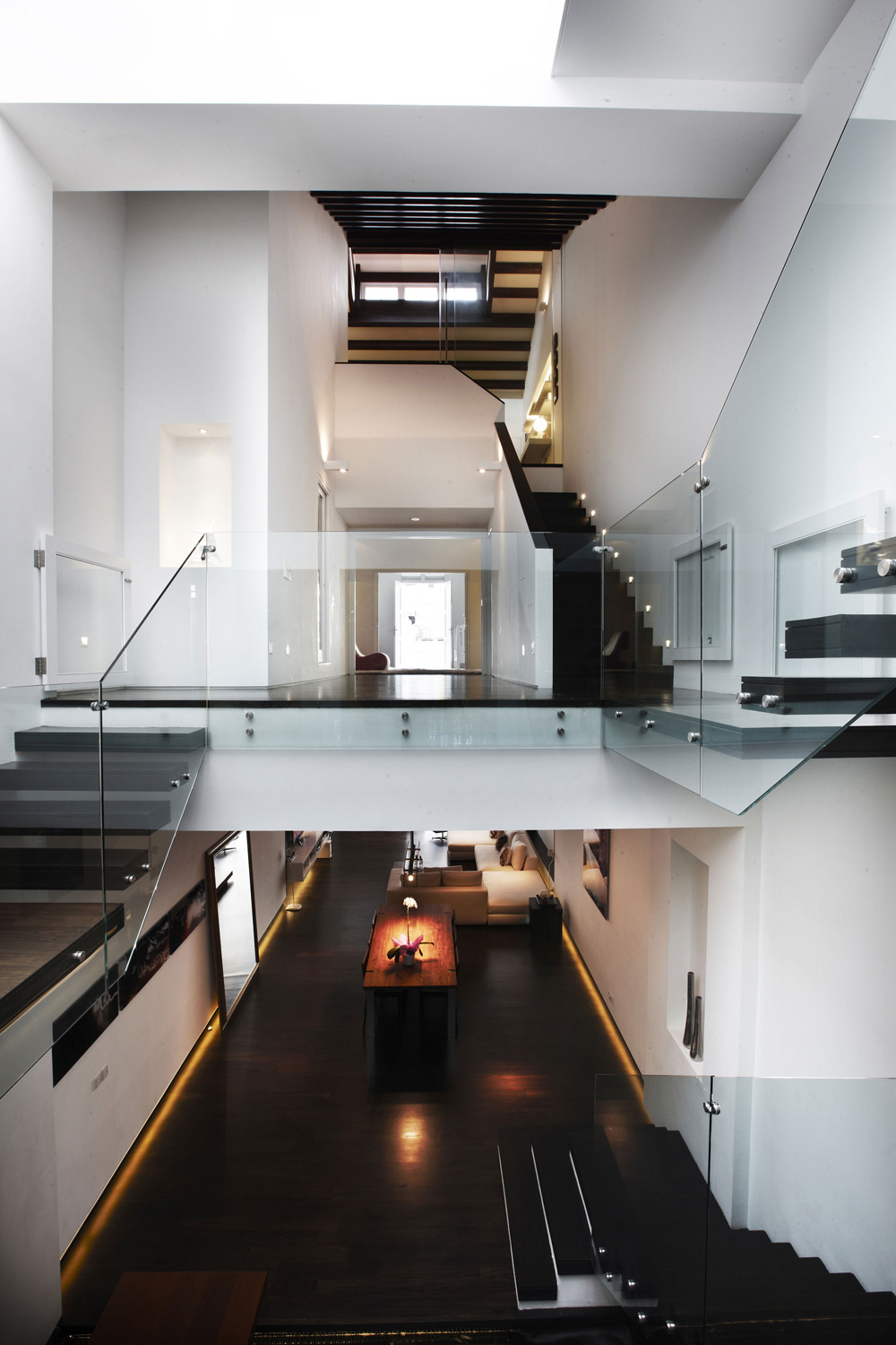High Ceilings Modern Stairs Shop House Renovation In