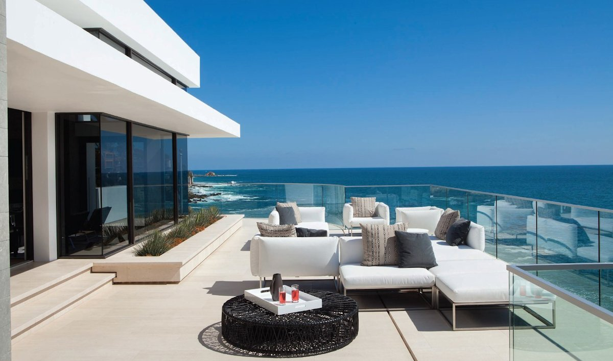 Outdoor Furniture Glass Balustrading Sea Views Beach