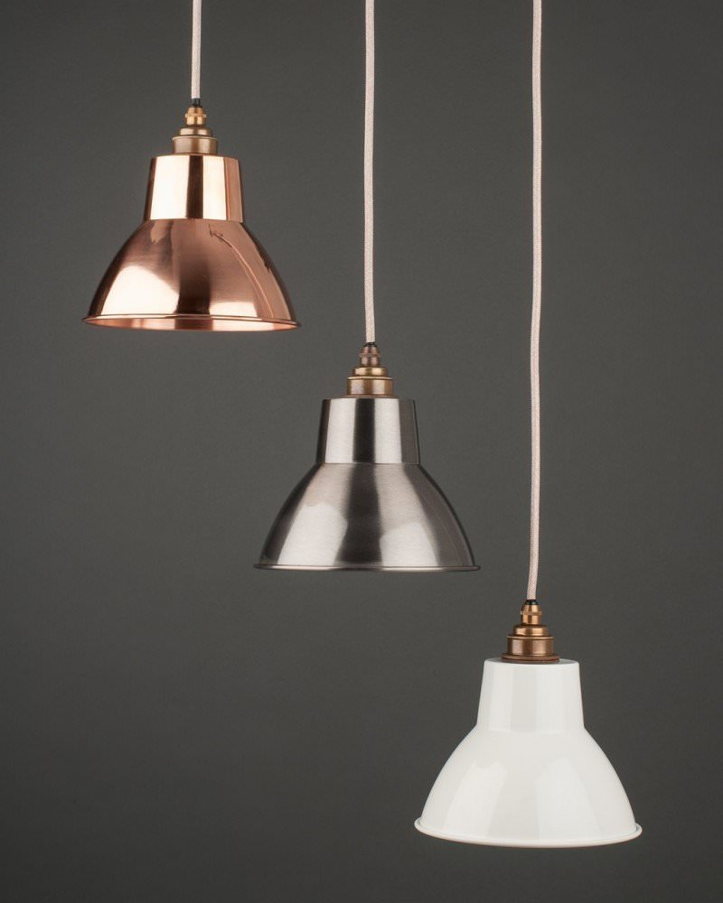 Brushed Metal Pendant Light