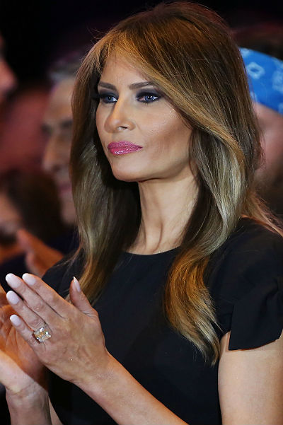 """Melania Trump against Botox, """"I will grow old with dignity"""""""