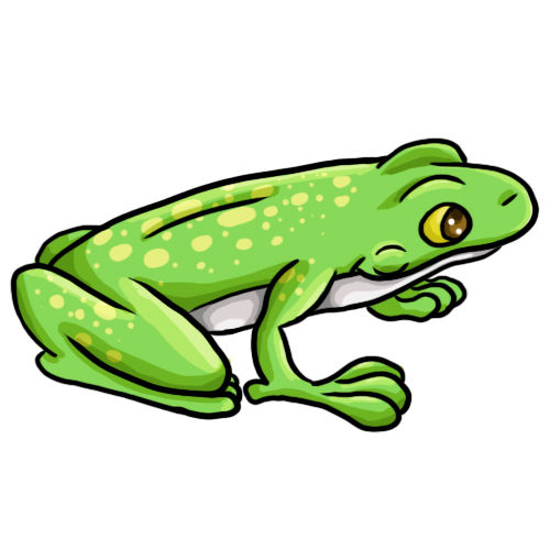 Simple Frog Coloring Pages