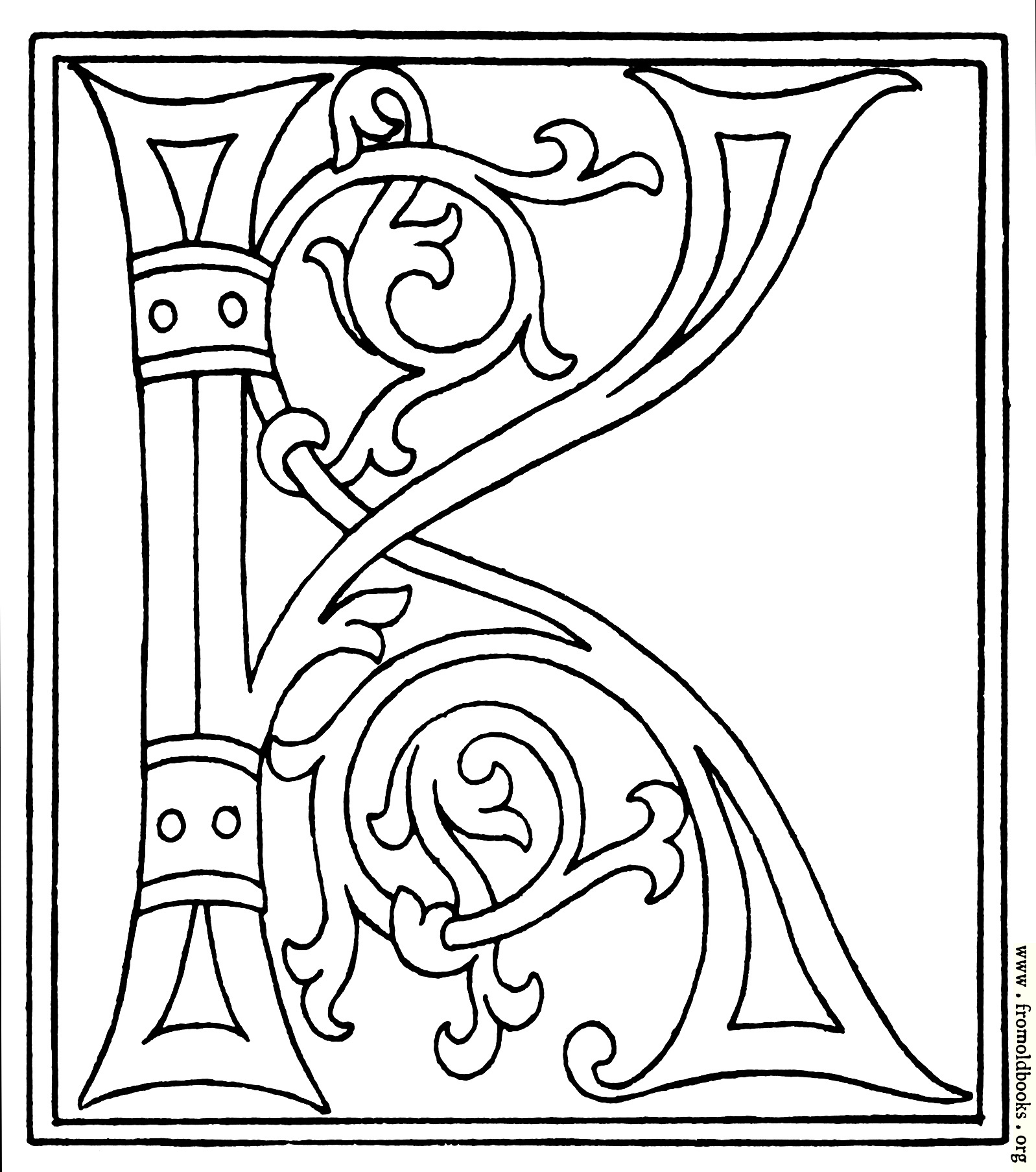 Fancy Calligraphy Letter K