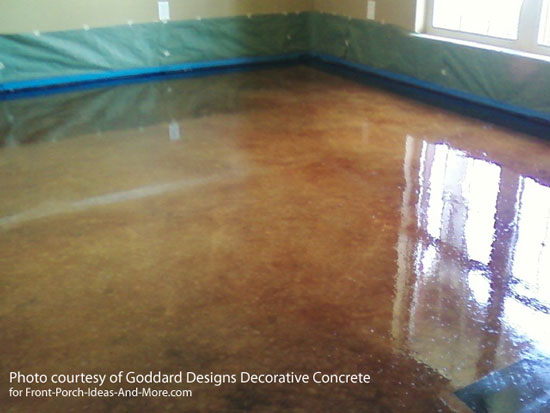 Etching Concrete Stain