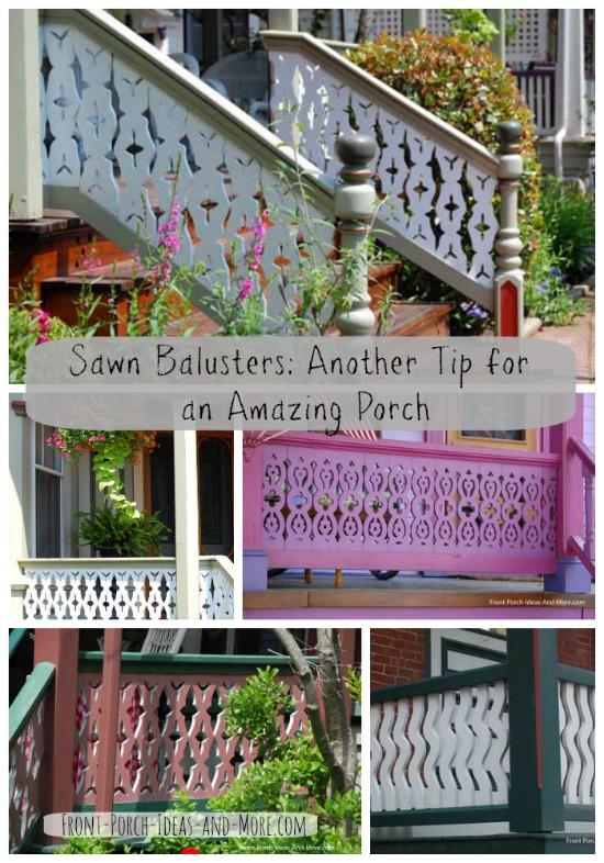 Sawn Balusters Porch Railings Wood Deck Railings