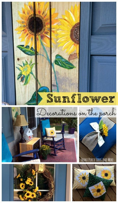 Sunflower Decorations for Your Porch Autumn porch decorated with sunflower decor