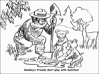 smokey the bear coloring pages # 12