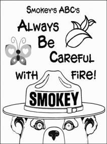 smokey the bear coloring pages # 81