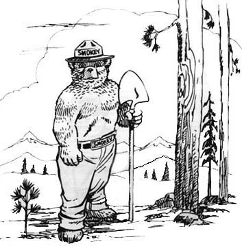 smokey the bear coloring pages # 33