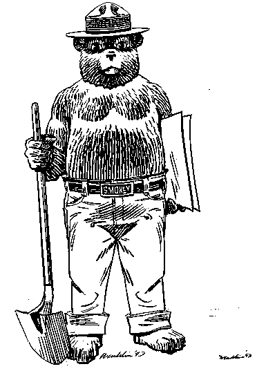 smokey the bear coloring pages # 68