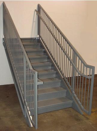 Ibc Prefab Steel Stairways | Prefabricated Exterior Metal Stairs | Stair Case | Stairways | Aluminum | Wrought Iron | Stair Treads