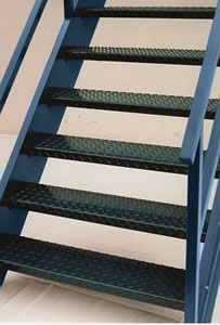 Diamond Plate Steel Stair Treads Galvanized Stair Treads   Steel Steps For Stairs   Iron Plate   Steel Structure   2 Step   Metal Floor Plate   Double Stringer