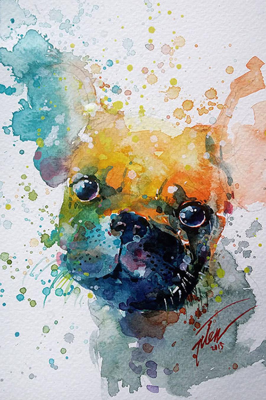 Colorful Splashed Watercolor Animals Paintings – Fubiz Media