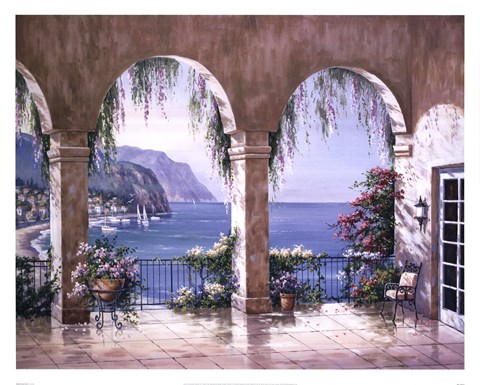 Mediterranean Arch Fine Art Print By Sung Kim At