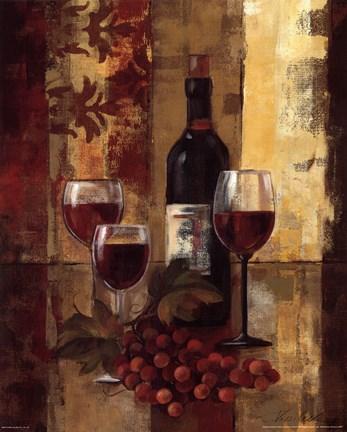 Graffiti And Wine Ii Fine Art Print By Silvia Vassileva At