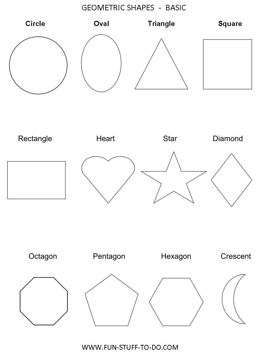 Geometric Sh Pes W Ksheets Free To Pr T