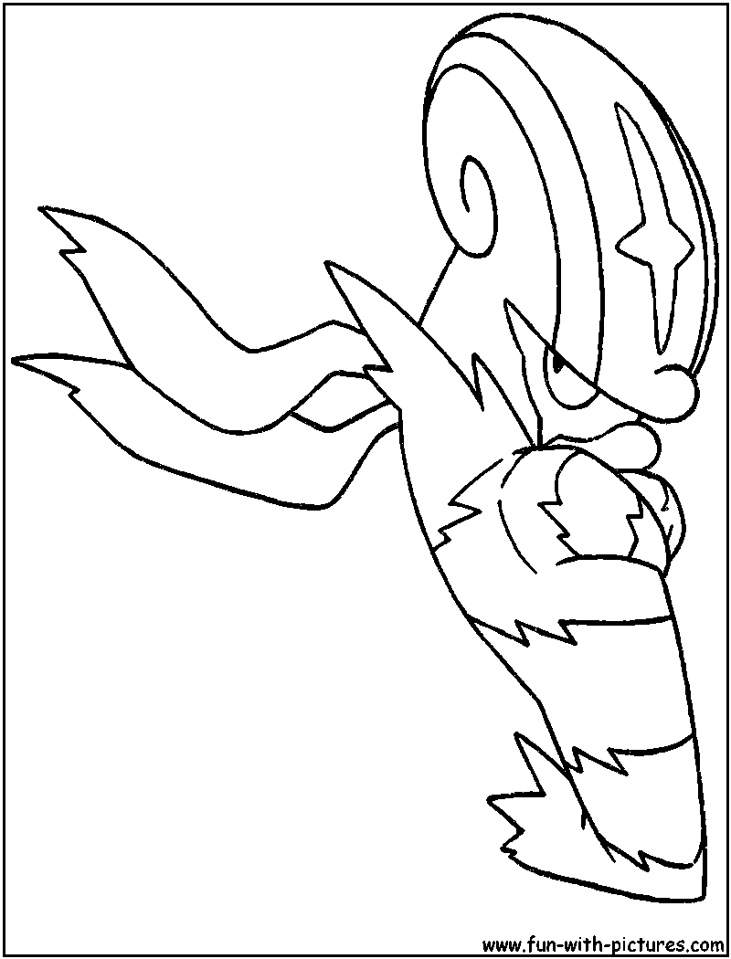 Accelgor coloring page