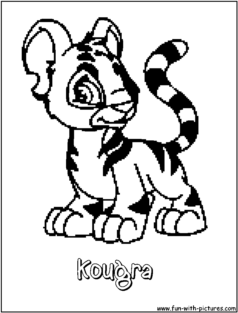 neopets coloring pages free coloring pages download xsibe animal