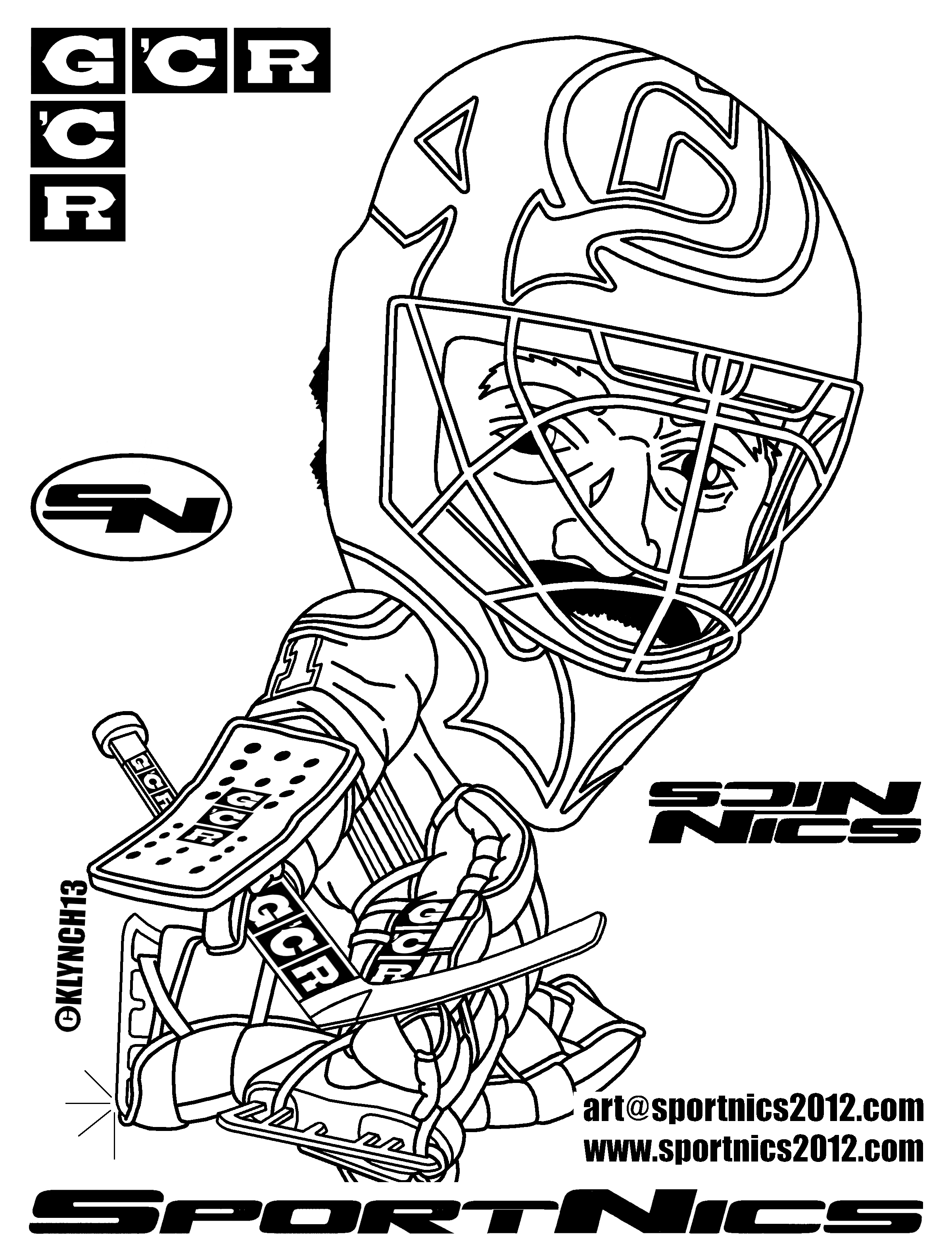 Holiday Coloring Pages » Nhl Coloring Pages Free Printable