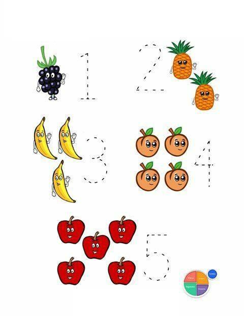 Fruit Math Worksheets 1 171 Preschool And Homeschool