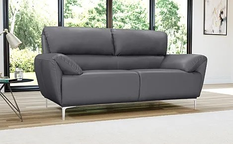 Enzo Grey Leather Sofa 2 Seater Only     429 99   Furniture Choice Enzo Grey Leather Sofa 2 Seater