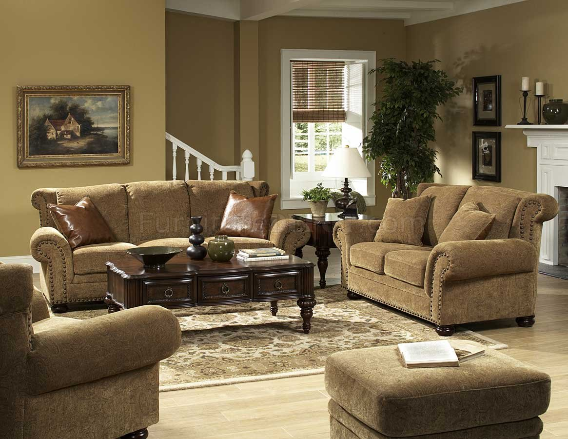 Floral Chenille Stylish Living Room Sofa   Loveseat Set