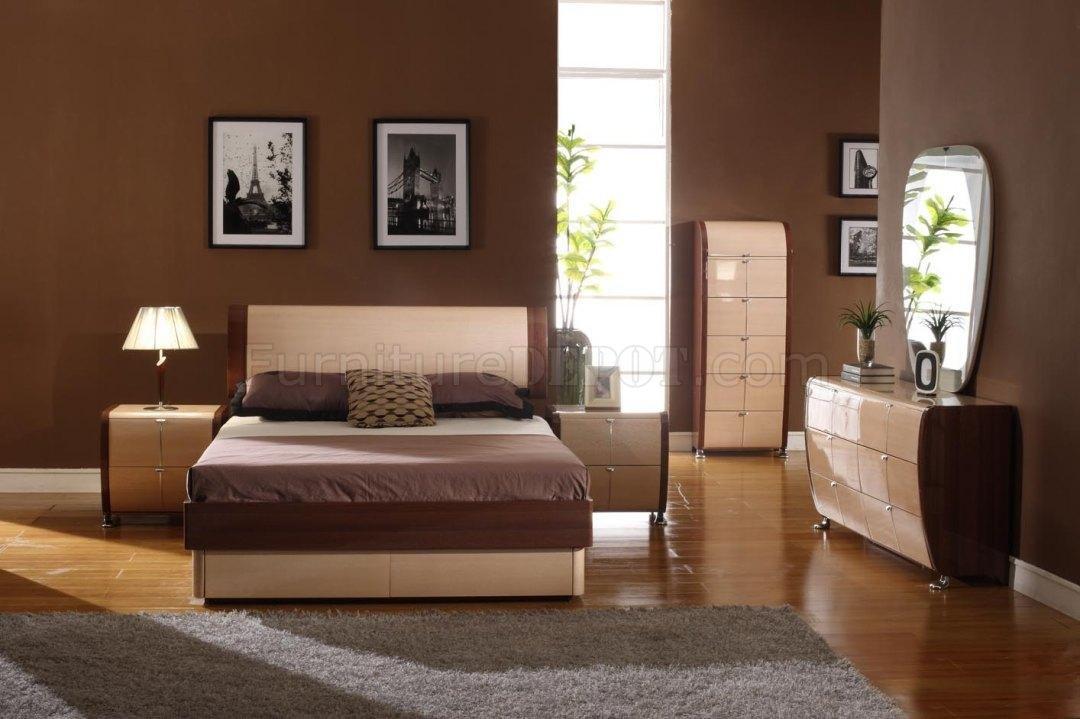 Two Tone Bedroom Set Maya Maple Cherry