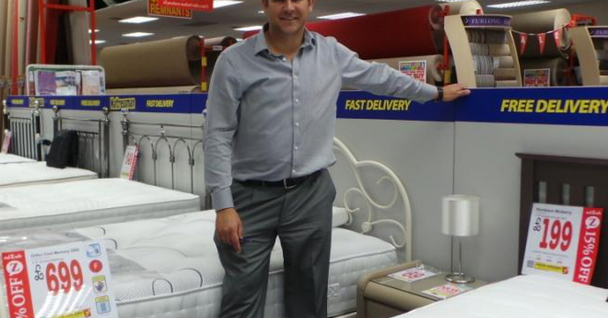 Mattressman opens stores in Ilford and Chingford   Furniture News     Andrew Kerry in the new Ilford store  Norwich based Mattressman