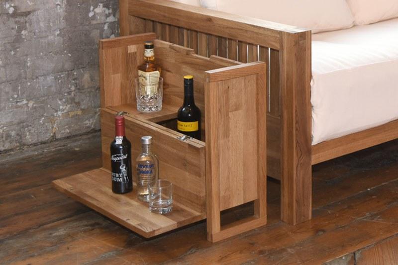 Oak Wooden Drinks Cabinet Futon Company