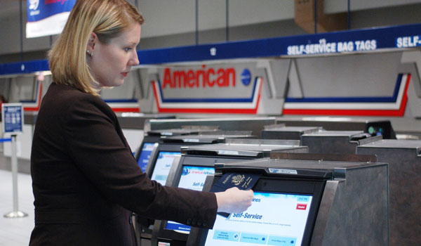 American Airlines Install Self Service Baggage Drop Miami
