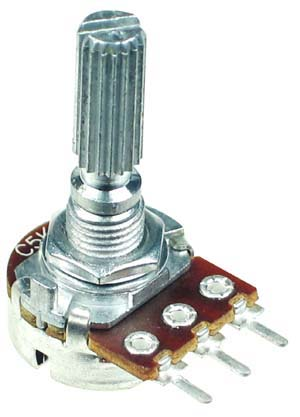 500k Ohm Anti Log Taper Potentiometer Technical Data