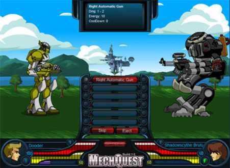 Games for Gamers     News and Download of Free and Indie Videogames     MechQuest is a FREE browser based fantasy giant destructive war machine  battle game  Sound fun  You bet  Heavily inspired by the art from every  mecha