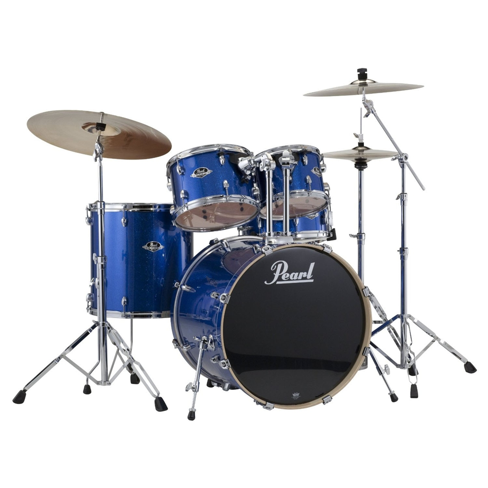 Pearl Drums EXX725 C 5 Piece Export Standard Drum Set with Hardware     Pearl Drums EXX725 C 5 Piece Export Standard Drum Set with Hardware   Electric Blue Sparkle