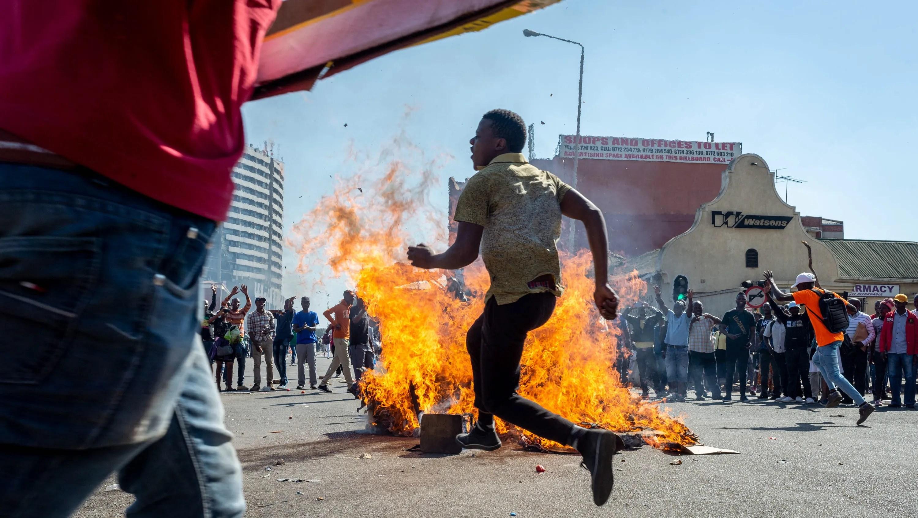 Zimbabwe President Emmerson Mnangagwa appeals for calm