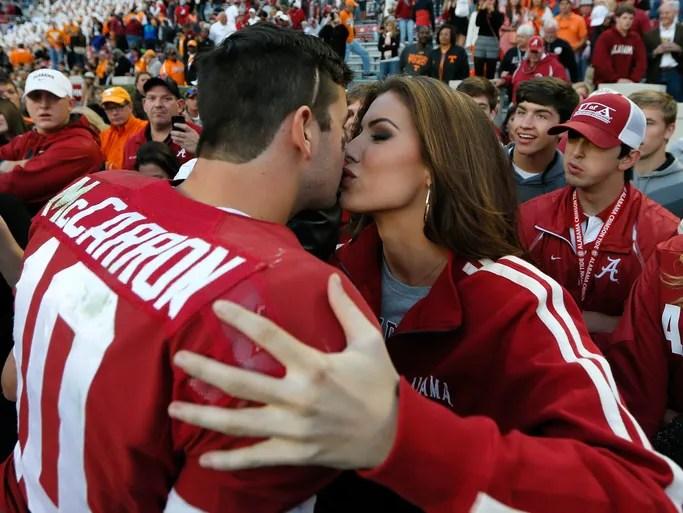 Katherine Webb Aj Mccarron Kisses