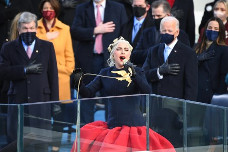 lady gaga inauguration national anthem performance stuns