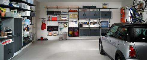 Garage doors   How to rearrange your garage  Garaga Interior view of a garage