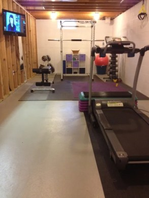 Inspirational Garage Gyms   Ideas Gallery Pg 7   Garage Gyms I can t tell if this is an unfinished room or a garage  either