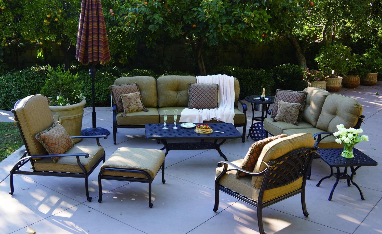 Patio Furniture Deep Seating Sofa Cast Aluminum Nassau - Outdoor Furniture
